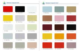 Acp Colour Chart Color Chart