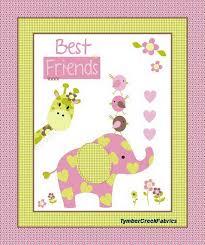 fleece fabric baby - fleece prints panels - cotton flannel fabric ... & Best Friends Elephant Fabric Panel Adamdwight.com