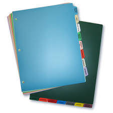 Custom Poly Tab Dividers 23 Colors Printed Tri State
