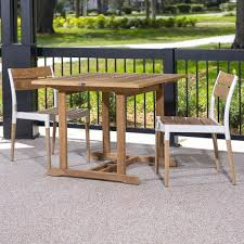 3pc bloom square teak dinette set