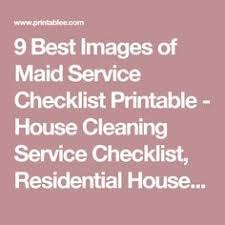 List Of Pinterest Maid Service Checklist Check Lists Pictures
