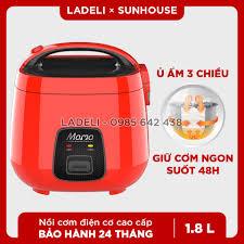 ⭐Nồi cơm điện 1.8L SUNHOUSE MAMA SHD8652R màu đỏ bảo hành 2 năm: Mua bán  trực tuyến Nồi cơm điện với giá rẻ