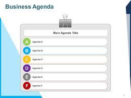 Meeting Agenda Template Powerpoint