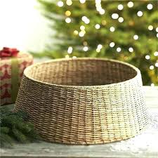 tree basket stand a modern alternative to the skirt our collar neatly conceals wicker rustic looking tree collar woven wicker skirt farmhouse basket