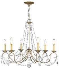 livex lighting 6 light hand painted antique silver leaf chandelier