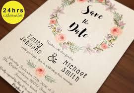 Save The Date Template Save The Date Printable Printable