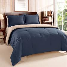 details about twin twin x long tommy hilfiger navy tan reversible comforter sham set