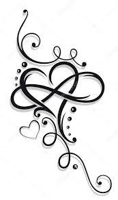 Srdce A Infinity Stock Vektor Christinekrahl 96954212