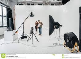 Professional Photography Studio Lighting Equipment Photo Studio With Lighting Equipment Stock Photo Image Of