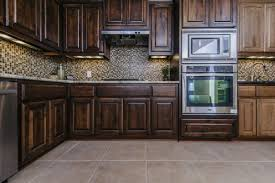 Tile For Kitchen Kitchens With Dark Cabinets And Tile Floors T Light Hardwood Ideas