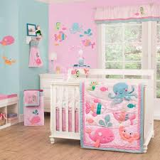 baby comforters sets regarding ocean crib bedding for girls under the sea 4 piece decor 6