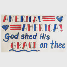 America America God shed His grace on thee Caryl Doodles Art
