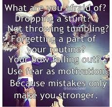 Cheerleading Quotes Inspiring Motivational Sayings Afraid Classy Cheerleading Quotes
