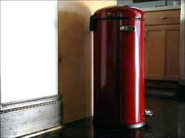 stainless steel kitchen trash can. Stainless Steel Kitchen Trash Can Accessories Red Decorative Cans In Front Metal Garbage With Lid Tra