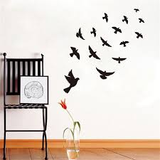 Diy Bird Room Decor Dctop Diy Black Flying Birds Vinyl Wall Sticker For  Kids Rooms On