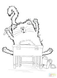 Pete The Cat Coloring Page The Cat Rocking In My School Shoes