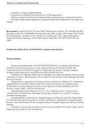 Linux System Administrator Resume System Administrator Resume