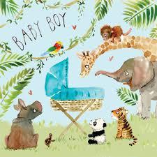 Congratulations For A Baby Boy Fiz4 New Baby Boy Card Jungle