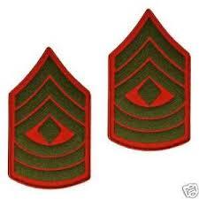 Details About Usmc U S Marine Corps Enlisted Rank E 8 F Sgt Chevron