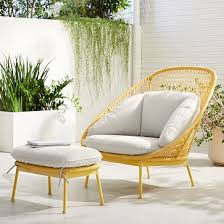 paradise outdoor lounge chair ottoman