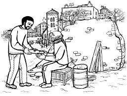 Kleurplaat Water In Wijn Mosaik Malvorlagen Mosaik Bibel Mosaik