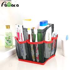 shower bag portable mesh quick dry hanging tote bath toiletry organizer travel caddy best three cheers