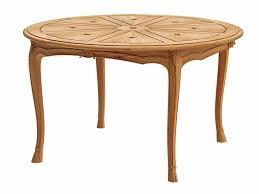 round teak garden table fleur de lys round table by astello