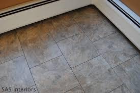 groutable vinyl tile flooring photos