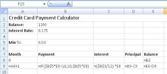 credit card payoff calculator excel how to create credit card payment calculator excel easyli debt