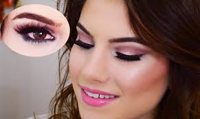 pink makeup look dramatic makeup look cranberry turquoise