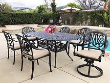 cast aluminum patio chairs. Cast Aluminum Patio Furniture Elizabeth 7-piece Outdoor Dining Set Chairs