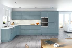 Of Blue Kitchens Glacier High Gloss Metallic Blue Kitchen Interior Designs North East