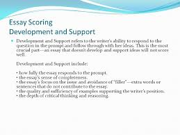 preparing for the sat writing section ppt  8 essay scoring development