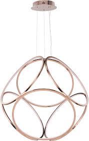 et2 e22126 rg form contemporary rose gold led 34 5 nbsp hanging pendant light loading zoom