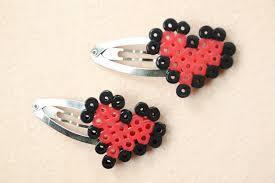Small Perler Bead Patterns Fascinating Make Perler Bead Heart Hair Clips Patterns For Little Girls 48 Steps