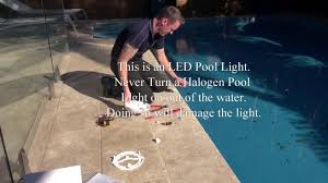 How To Change Light Bulb In Swimming Pool Replacing Pool Lights
