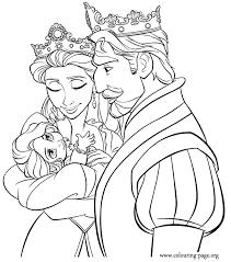 Small Picture Tangled King Queen and baby Rapunzel coloring page