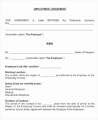 Labour Contract Template Interesting Labour Contract Agreement Sample Elegant Sample Employment Contract