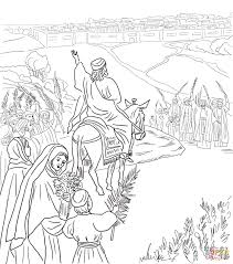 Bible Palm Sunday Coloring Pages For Sheets Coloring Pages