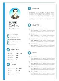 Resume Template Download Free Word Resume Template Word Free Download Infographic Examples