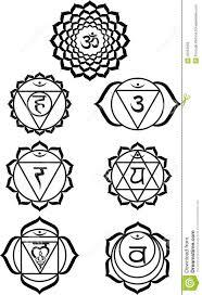Chakra Symbols Black And White