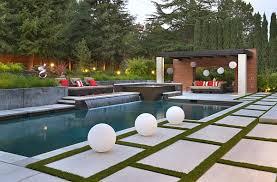 Infinity Pool Backyard Minimalist Custom Design