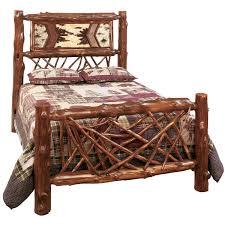Lodge Style Bedroom Furniture Rustic Bedroom Furniture Log Beds And Hickory Beds Black Forest