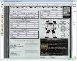 warhammer character sheet lets learn deathwatch 40k basic characteristics overlook of char
