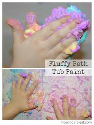fluffy bathtub paint