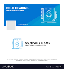 Azure Design Tool Blue Business Logo Template For Design Tool Vector Image On Vectorstock