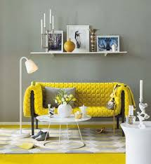 gray and yellow furniture. Yellow And Grey Living Room Interior Design Gray Furniture