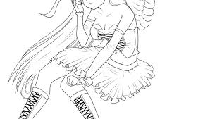 Dark Angel Coloring Pages At Getdrawingscom Free For Personal Use
