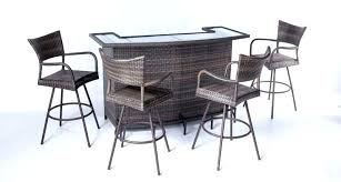 wicker patio bar endearing outdoor patio bar table with stool ers guide nding the set just right sets outdoor wicker bar table and chairs