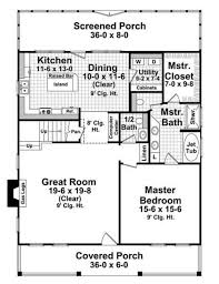 Houseplans.com Farmhouse Main Floor Plan Plan #21-227
